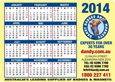 2014 Dandy Calendar